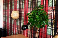 Designer Wallpaper - Tartan digitally printed